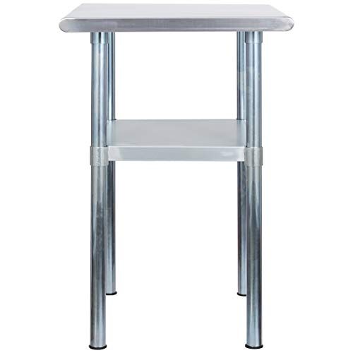 Rockpoint Carmona Tall NSF Stainless-Steel Kitchen Work Table with Adjustable Shelf, 30 x 23 Inch by ROCKPOINT (Image #3)