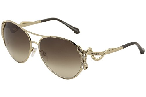 Roberto Cavalli Men's Designer Sunglasses , Shiny Rose Gold/Brown Mirror, - Aviator Roberto Sunglasses Cavalli