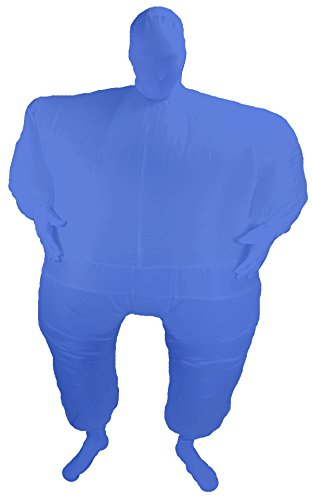 Suit Inflatable Blow up Full Body Jumpsuit Costume (Blue) ()
