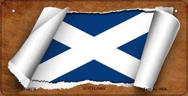 Bargain World Scotland Flag Scroll Novelty Bicycle Plate (Sticky Notes)