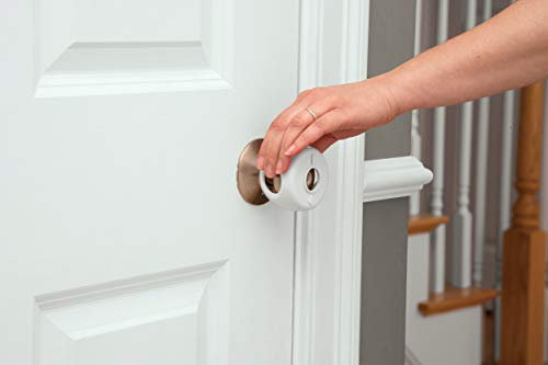 3184MH6AdsL Safety 1st Parent Grip Door Knob Covers, White, One Size (Pack of 3)    Once toddlers learn how to twist the knob, they open the door to a new world of potential danger. Keep your little explorer from off-limits areas with our durable and strong Parent Grip Door Knob Covers.This new design has a wider base to fit most standard door knobs and it's easy to install with a few simple clicks. It's also easy for parents to grip when opening the door, all while being difficult for kids to figure out how to use. The improved polypropylene snaps are stronger than ever before and help keep the cover from coming off the knob when curious little fingers pull on it. Designed to blend in with your home decor, this pack of three gives you coverage for multiple doors in your home.