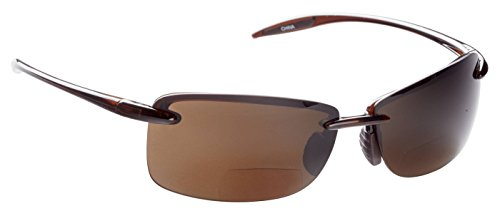 Guideline Eyegear Sunglass with Freestone Brown Lens/Bifocal +2.50, Shiny Rootbear, - Guidelines Sunglasses
