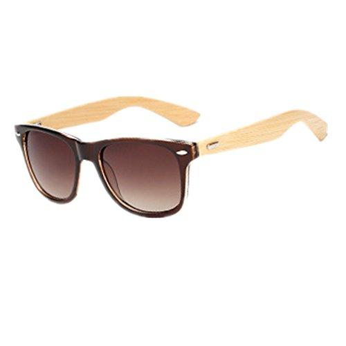 Shiratori Prevent Radiation Classic Bamboo Wood Sunglasses - Bamboo Sunglasses