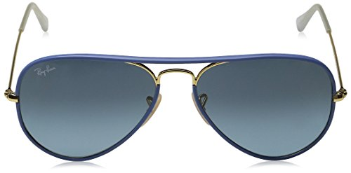 Ray Ban Men's RB 3025JM-001 Tortoise & Gold frame / Brown lens, Aviator 58mm Sunglasses