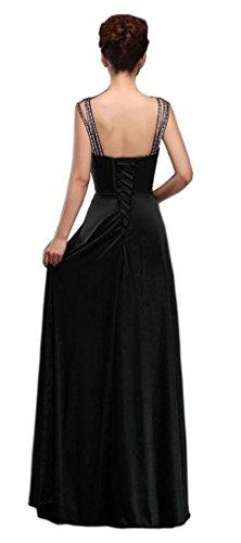 Perlen Kleider Ausschnitt Damen Straps Kmformals Prom Schwarz V HwB1n5x6
