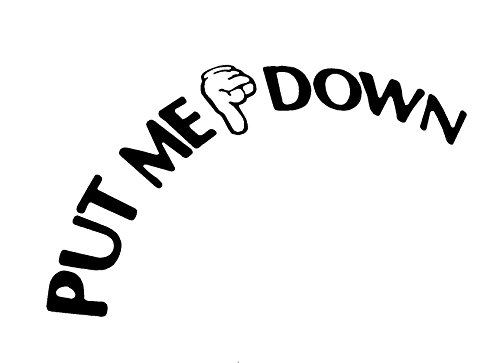put me down decal toilet bathroom seat vinyl sticker sign reminder for him  come with glowindark