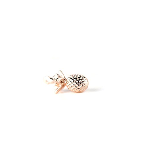 16K Rose Gold Plated Pineapple Pendant Dainty Pineapple Charm DIY Pineapple Necklace Supply - 1PPA (Rose Gold) ()