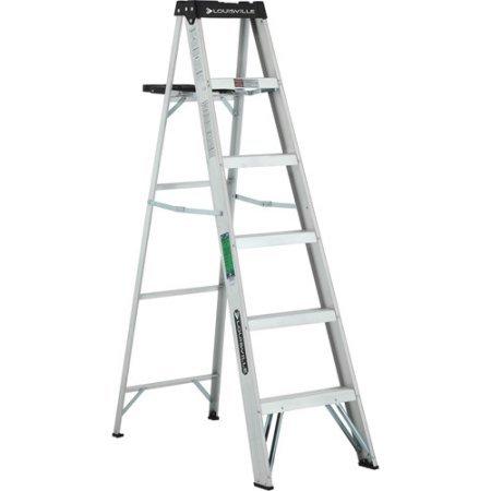 Aluminum Lightweight Molded Plastic Top Ladder by Louisville Ladder (Image #1)