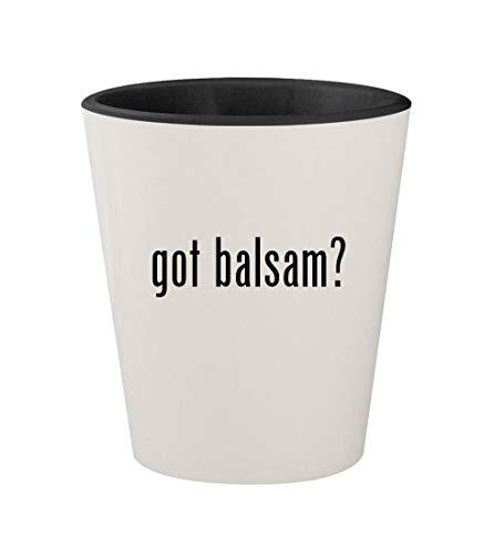 got balsam? - Ceramic White Outer & Black Inner 1.5oz Shot Glass