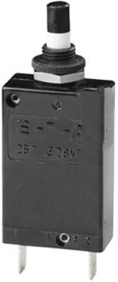 E-T-A Circuit Protection and Control 2-5700-IG1-P10-DD-30A, Circuit Breaker; Thermal; Push-Push Release/Reset; QC Terminals, 30 Amps