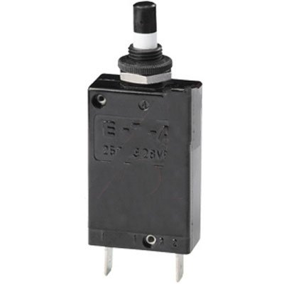 E-T-A Circuit Protection and Control 2-5700-IG1-P10-DD-15A Circuit Breaker; Therm; Push; Cur-Rtg 15A; Panel; 1 Pole; Vol-Rtg 250//28VAC//VDC