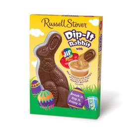 Russell Stover Solid Milk Chocolate Dip-It Rabbit with Jif Peanut Butter Dip, 6 oz.