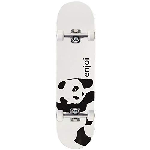 (Enjoi Whitey Panda Logo Wide R7 Skateboard Complete - Whitey - 8.375