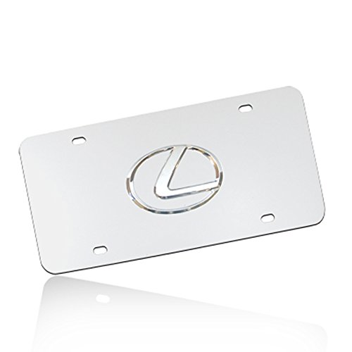 Au-Tomotive Gold, INC. Lexus 3D Logo Chrome Stainless Steel License Plate