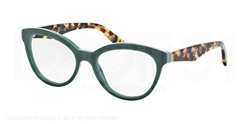 opal green prada triangle pr11rv roj1o1 glasses