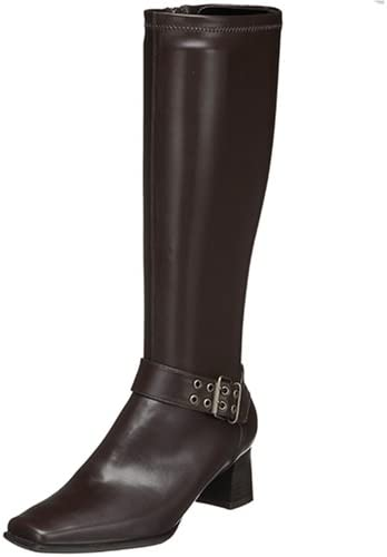 LifeStride Women's Fantastic Tall Shaft Boot Knee High, Dark Brown, 8.5 W US