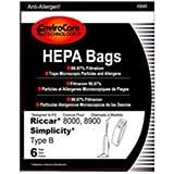 Envirocare Riccar Type B Bags for 8000, 8900 HEPA w/closure