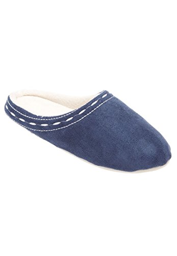 Comfortview Dames Oversized Gestikte Klomp Met Pantoffel Denim