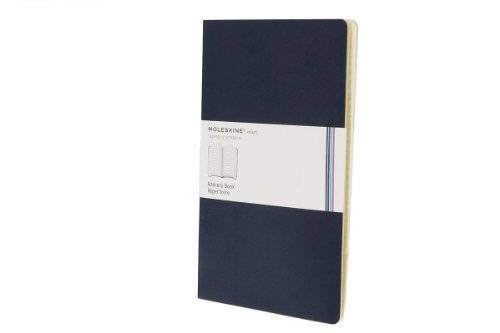 Moleskine Volant Address Book, Large, Prussian Blue, Soft Cover (5 x 8.25) ()