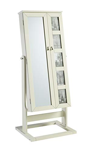 - Powell PAMZN1546 Cheval Armoire Ivory