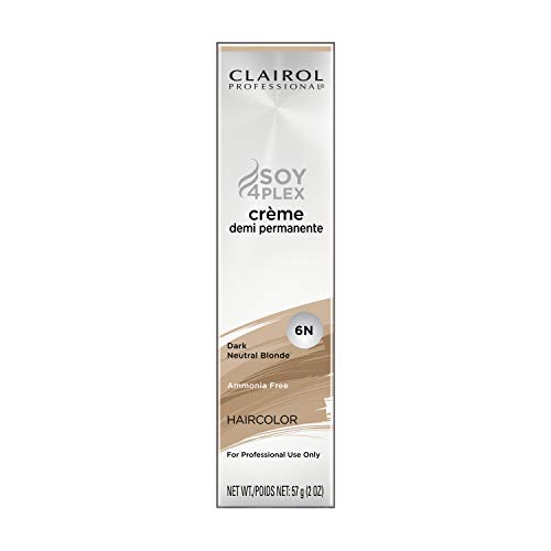 Wella Color Charm Clairol Pro Demi Crème, 6n Neutral Blonde, 2 oz.