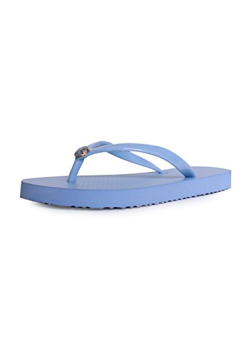 Tory Burch Solid Thin Flip Flop Sandals in Light Chambray Si