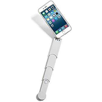 SNAPSTYK Selfie Stick iPhone Case – Built in Retractable Selfie Stick – Bluetooth Technology for Taking Pictures (Silver) (iPhone 6/6s)