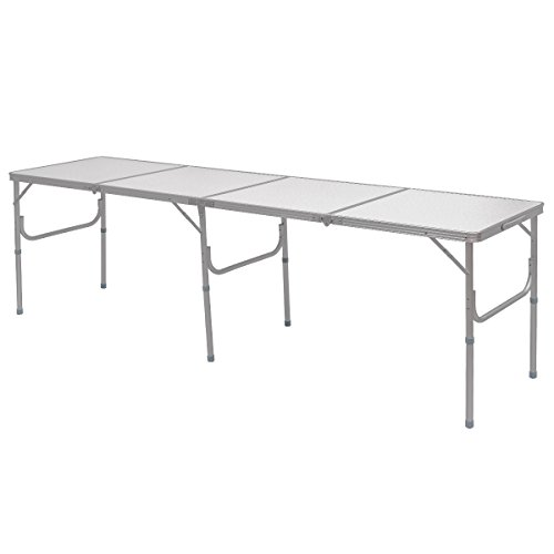 Giantex 8FT Portable Aluminum Folding Table with Carrying Handle Picnic Indoor Outdoor Camping Review