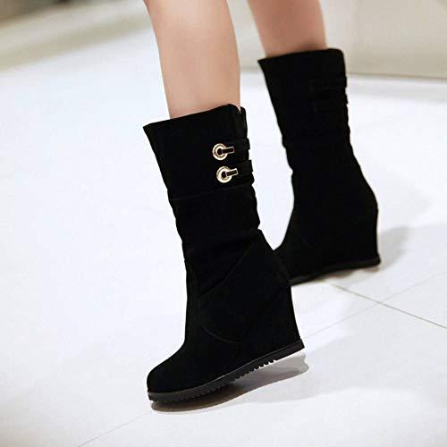 Pull Pull Donne On On Stivaletti Autumn Boots Nero Medio MisaKinsa Zeppa wAqvIaIg