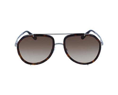 Dolce and Gabbana DG2161 04/13 Havana/Gunmetal DG2161 Pilot Sunglasses Lens C