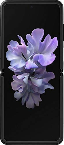 Samsung Galaxy Z Flip Factory Unlocked Cell Phone |US Version - Single SIM | 256GB of Storage | Folding Glass Technology | Long-Lasting Battery | US Warranty | Mirror Black (Renewed)