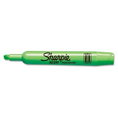Accent Tank Style Highlighter, Chisel Tip, Fluorescent Green, 12/Pk, Sold as 1 Dozen ()
