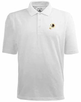 NFL Men's Washington Redskins Pique Xtra Lite Desert Dry Polo Shirt Black
