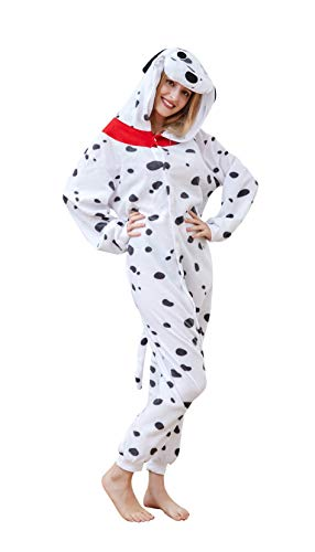 Sayadress Lovely Animal Cosplay Halloween Costumes Pajamas for Unisex Adults (M, Spotty Dog) ()