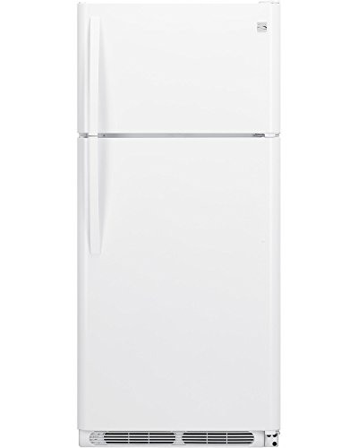 Kenmore 60412 18cu.ft. Top-Freezer Refrigerator with Wire Shelves - White - Frost Free Top Mount Refrigerator