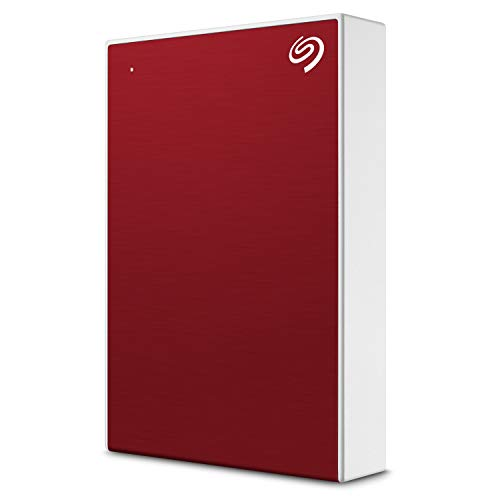 Seagate Backup Plus Portable 5TB External Hard Drive HDD - Red USB 3.0 for PC Laptop and Mac, 1 year MylioCreate, 2 Months Adobe CC Photography (STHP5000403)