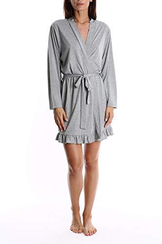 Blis Women's Super Soft Pajama Robe - Ladies Sleep & Loungewear Bathrobe - Grey, -