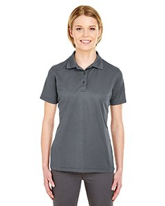 UltraClub 8210L Ladies Cool & Dry Mesh Pique Polo Polyester Charcoal 3XL