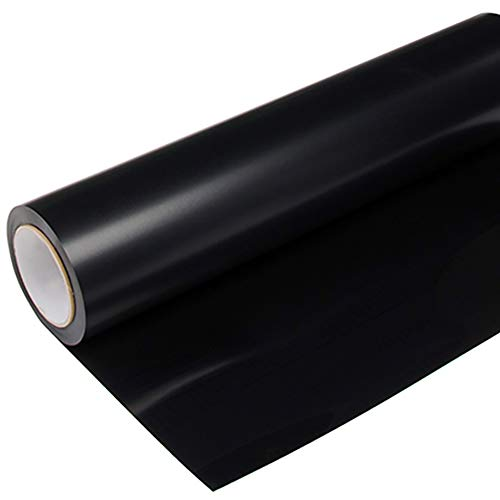 XPCARE Heat Transfer Vinyl HTV for T-Shirts 12 Inches by 12 Feet Roll (Black)