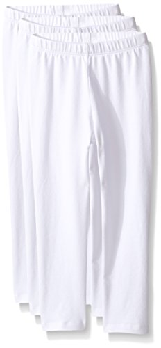 5t Cotton (The Children's Place Baby Toddler Girls' Leggings, White/White/White 78070 (Pack of 3), 5T)