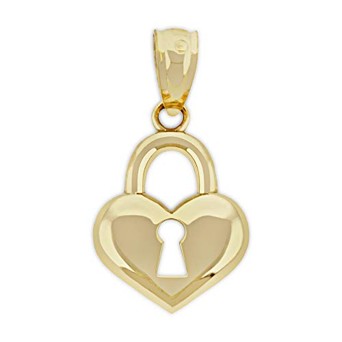 (Charm America - Gold Key to My Heart Charm - 10 Karat Solid Gold)