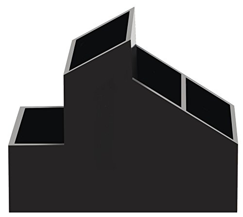Spirella 10.19178Skyline Storage Bathroom Accessory, Plastic, Black, 8.5x 13cm