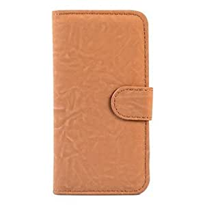 YXF Grind Arenaceous Tiger Stripes PU Leather Full Body Case for IPhone 5/5S(Assorted Colors) , Black