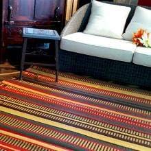 Mad Mats Stripes Indoor Outdoor Floor Mat 4 X 6 , Warm Brown