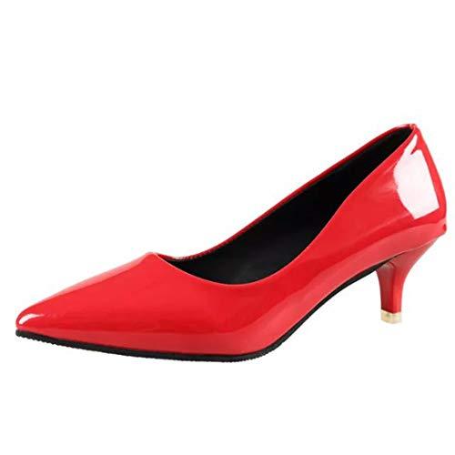 Et Simple 5cm Bouche Le Mince Chaussure Profonde Talon Soulign Femmes Verni Moyen Hauts Talons Kphy A Vert En Peu Cuir Trente six Pour Chaussures StnwqZCxYF