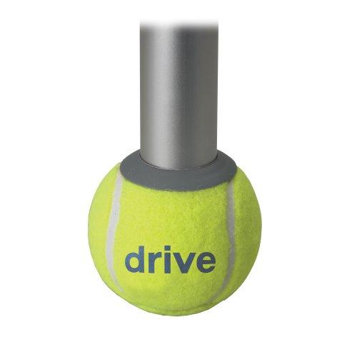 Drive Medical Walker arrière Patins balle de tennis, jaune