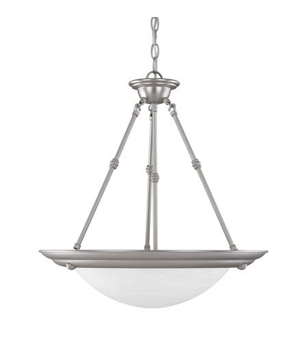 Capital Lighting 2720MN Pendant with Faux White Alabaster Glass Shades, Matte Nickel Finish ()