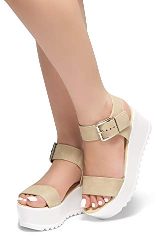 d8d33a926d55 Jual Herstyle Womens s Carita-Open Toe Ankle Strap Platform Wedge ...