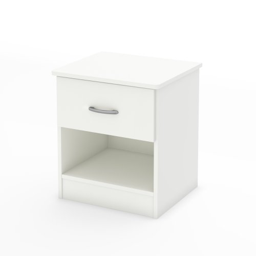 South Shore Libra 1-Drawer Nightstand, Pure White