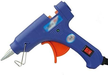 Minmin ホットメルトグルーガン - -7mmグルースティック20Wマニュアルグルーガン電動グルーガン - DIY工芸品の装飾、家の速い修理、休日の装飾(青) ミニ (Color : B)